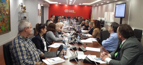 Foto de la reunión del grupo de trabajo de la norma en Madrid